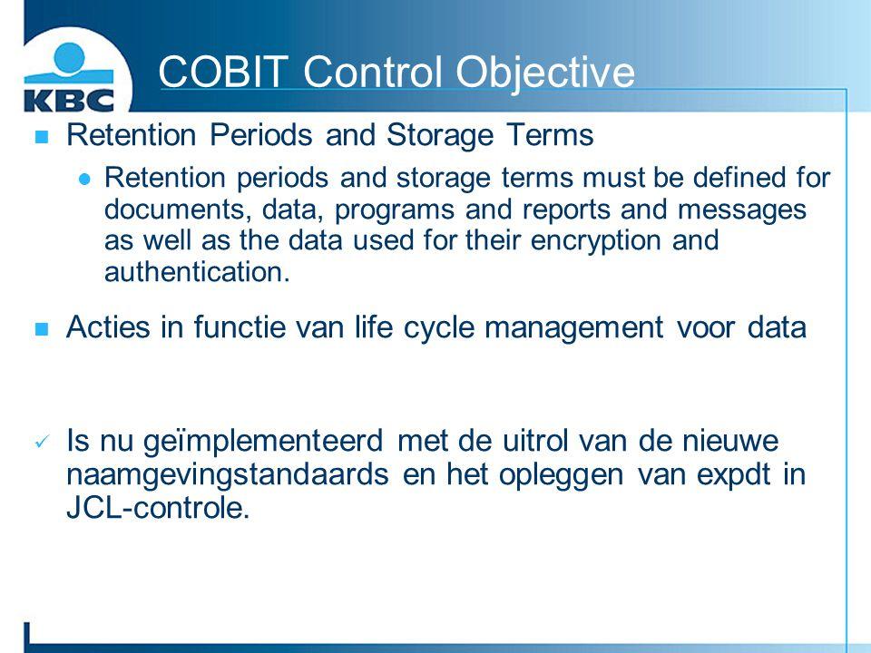 COBIT Control Objective