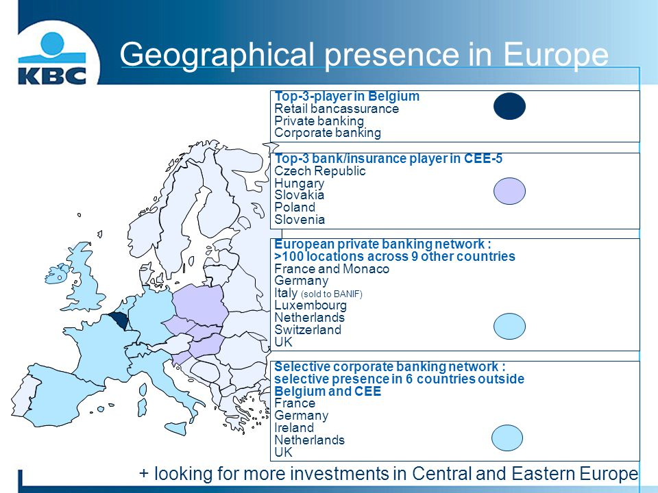 Geographical presence in Europe