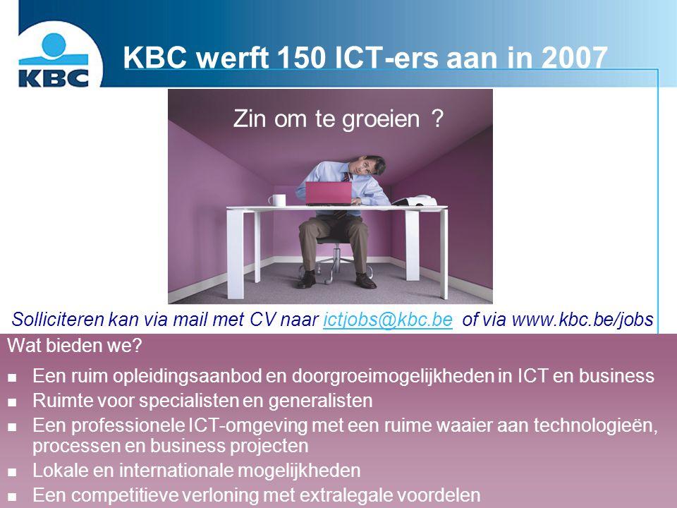 KBC werft 150 ICT-ers aan in 2007