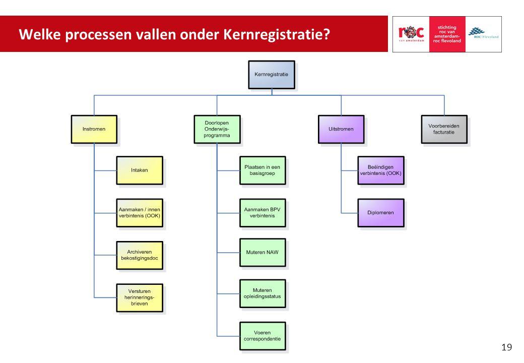 Welke processen vallen onder Kernregistratie