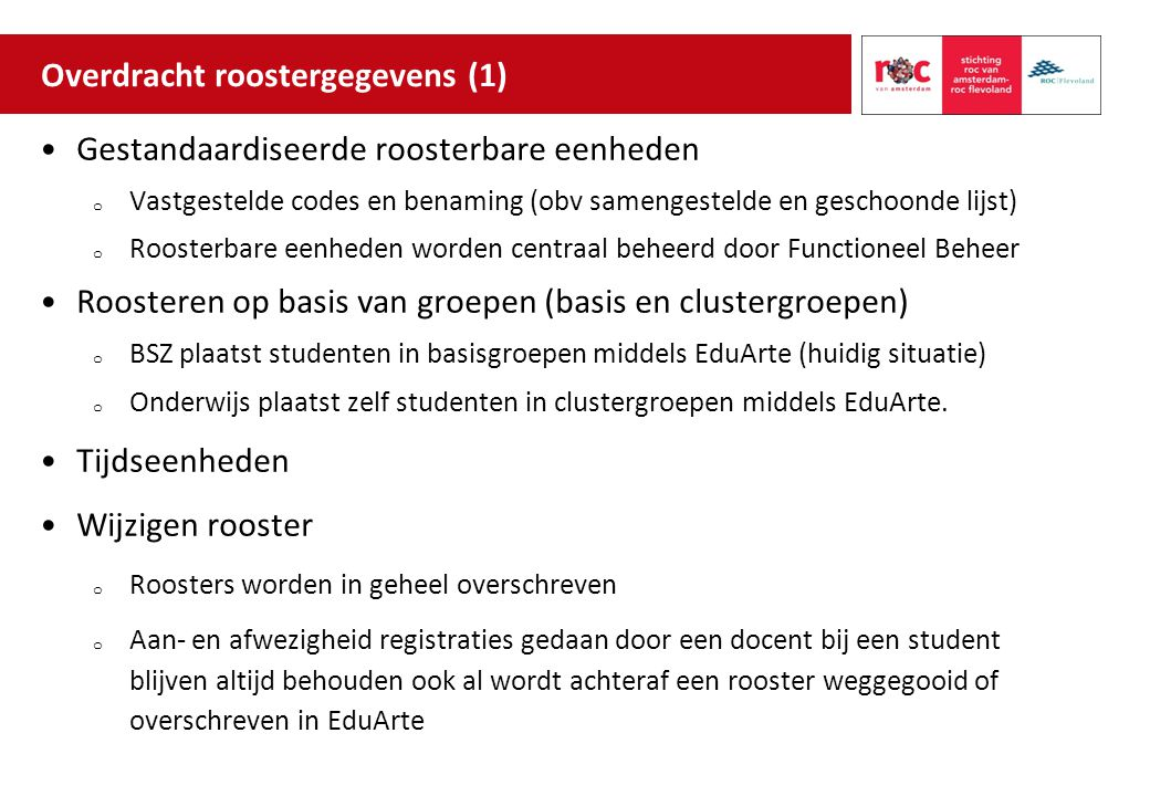 Overdracht roostergegevens (1)