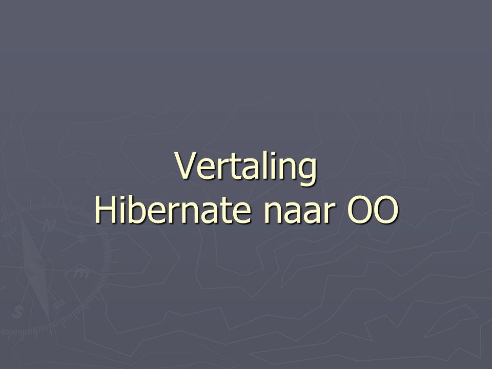 Vertaling Hibernate naar OO