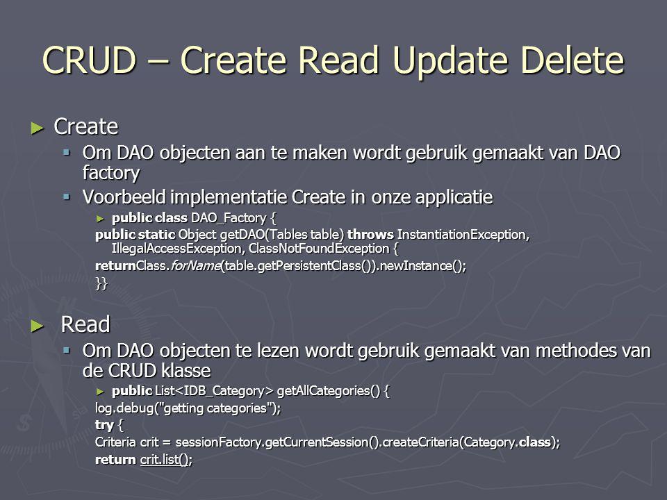 CRUD – Create Read Update Delete