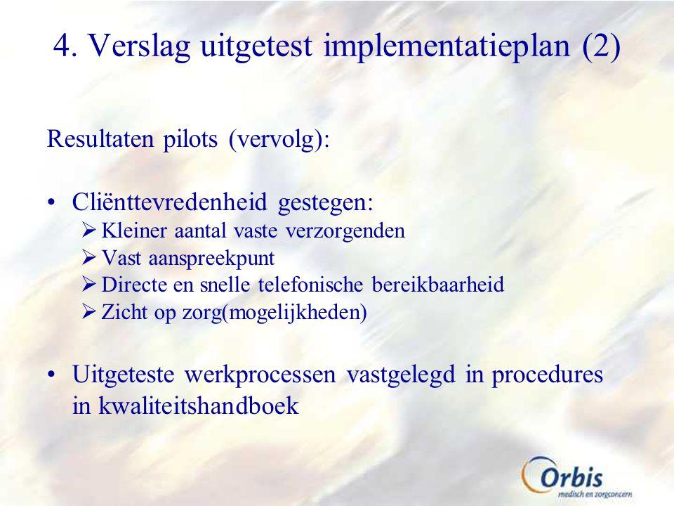 4. Verslag uitgetest implementatieplan (2)