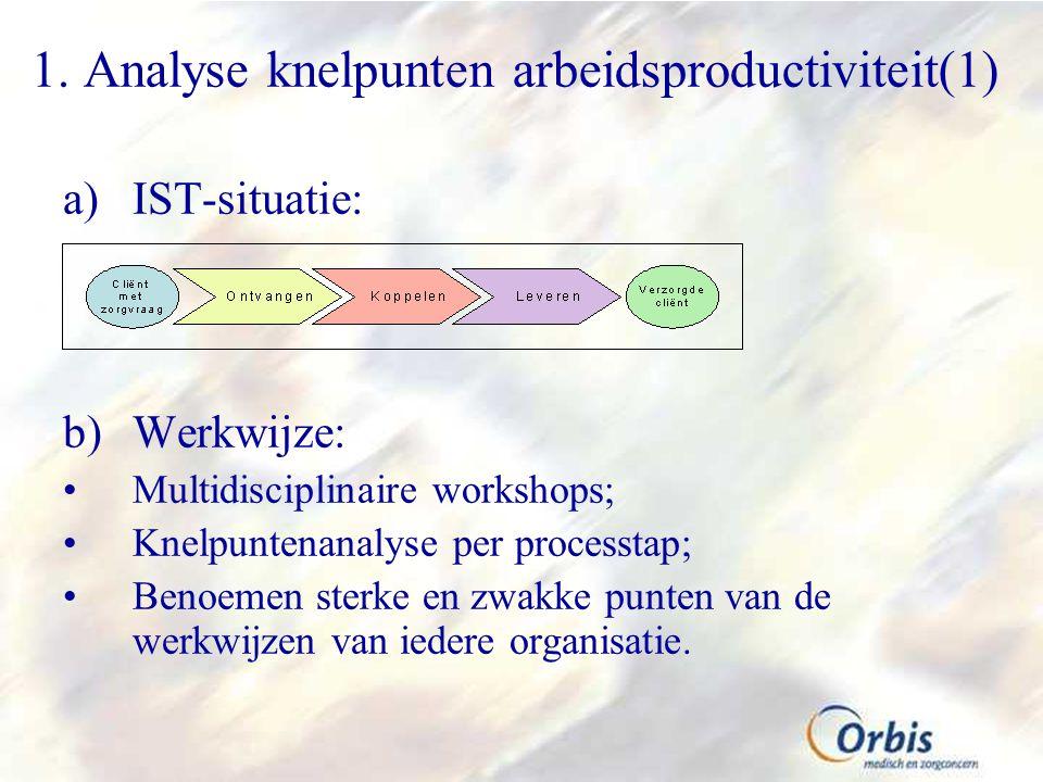 1. Analyse knelpunten arbeidsproductiviteit(1)