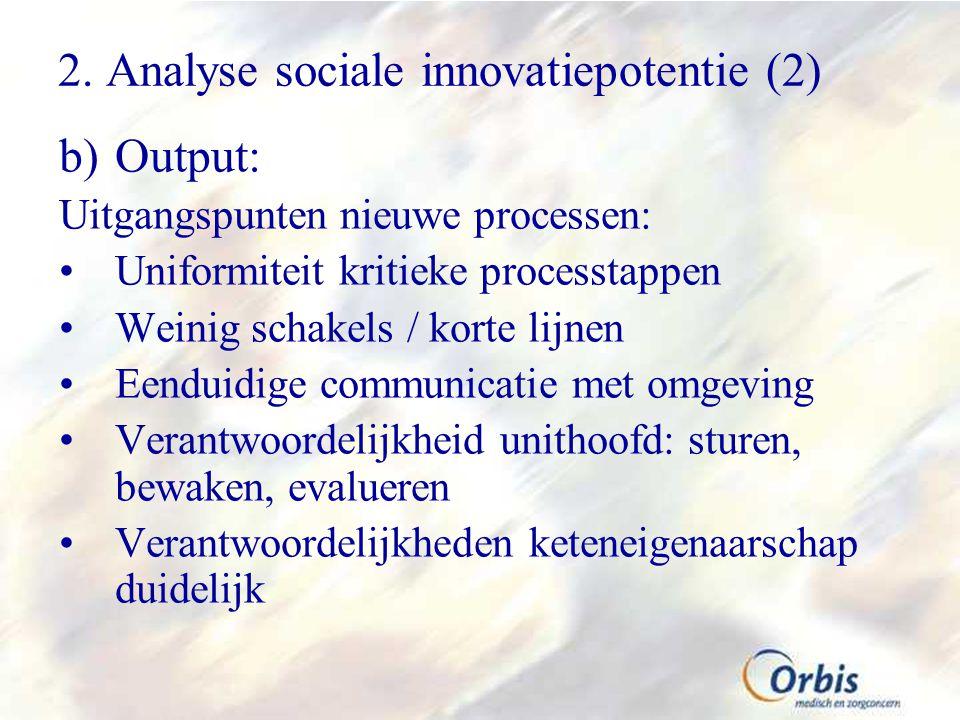2. Analyse sociale innovatiepotentie (2)
