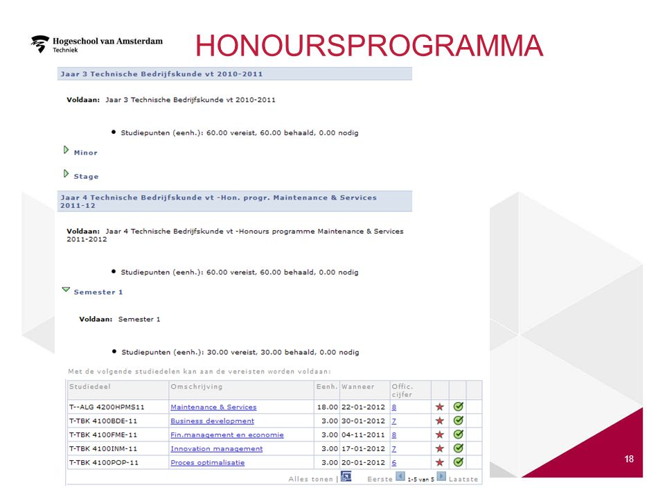 Honoursprogramma