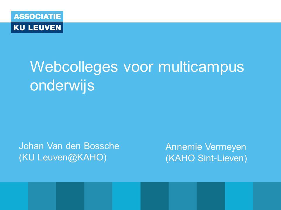 Webcolleges voor multicampus onderwijs