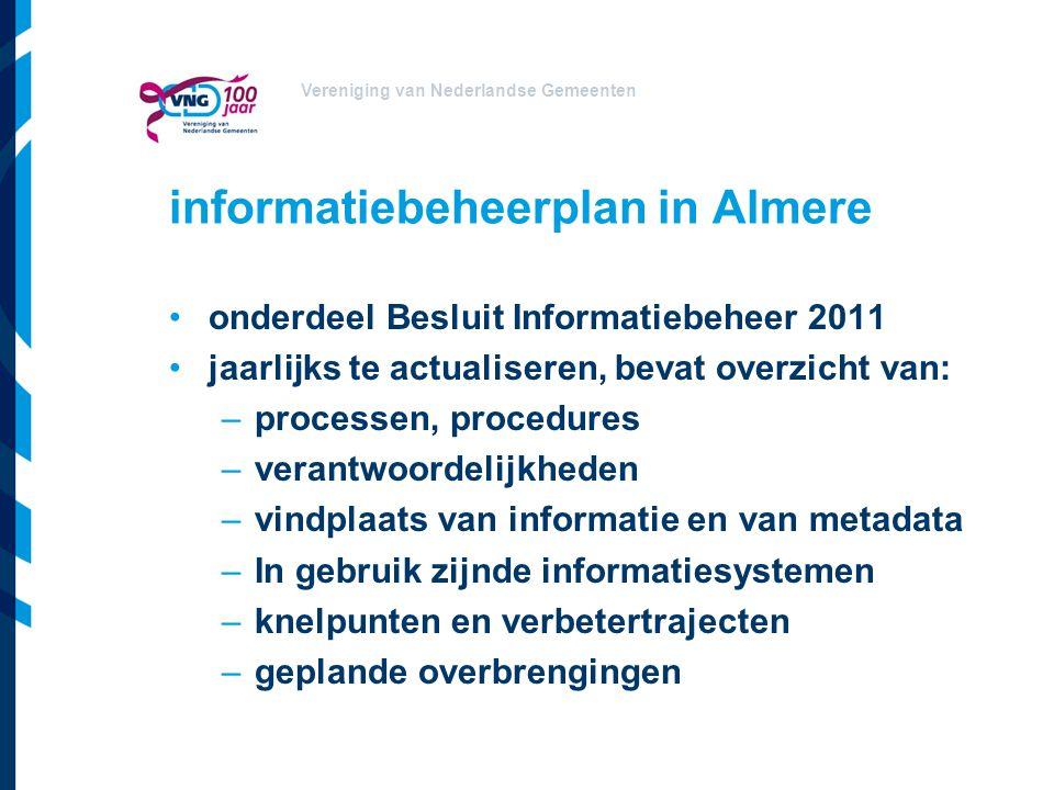 informatiebeheerplan in Almere