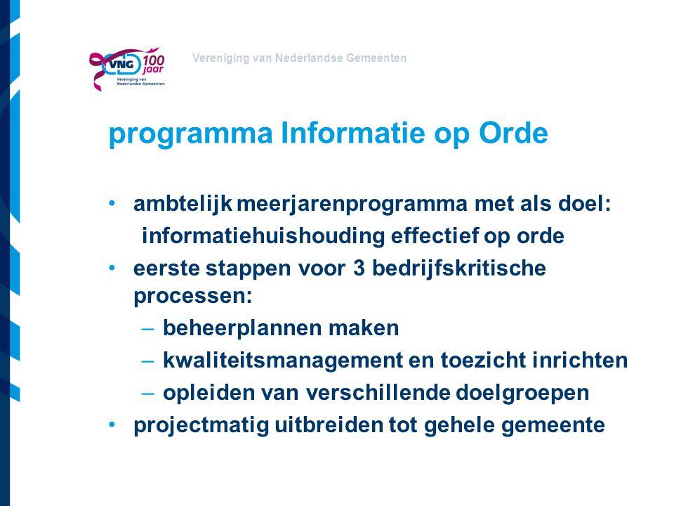 programma Informatie op Orde