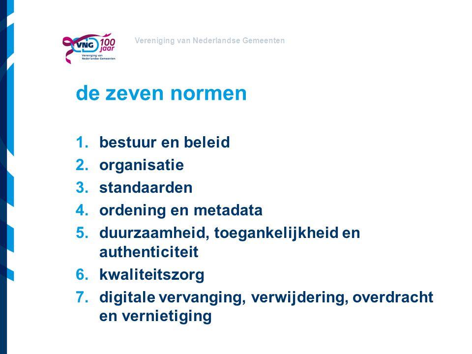 de zeven normen bestuur en beleid organisatie standaarden