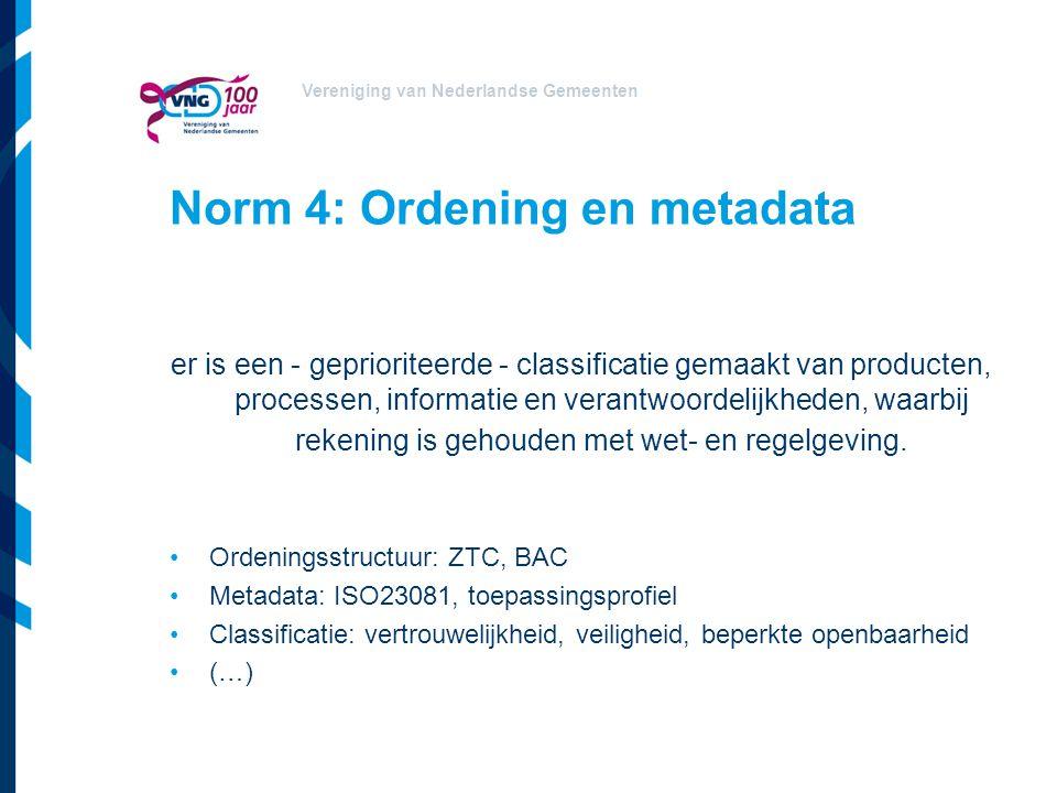 Norm 4: Ordening en metadata