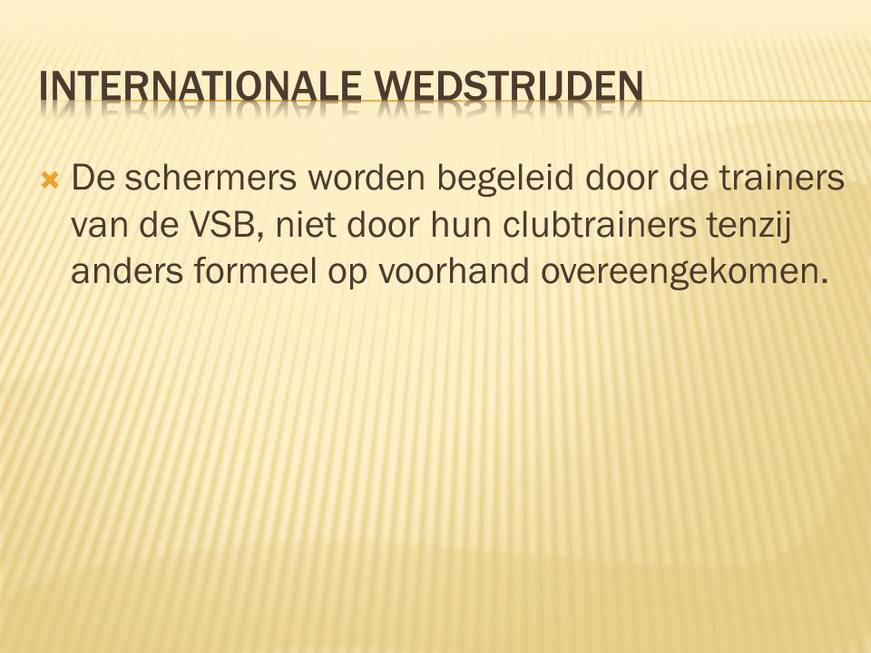 Internationale wedstrijden