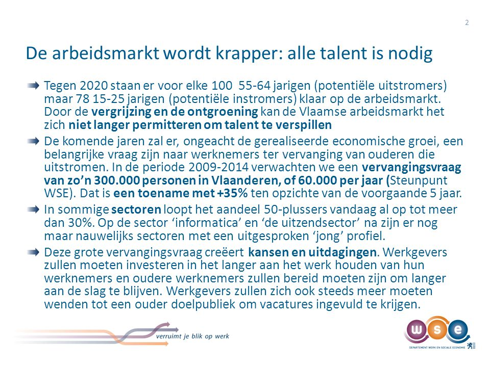 De arbeidsmarkt wordt krapper: alle talent is nodig