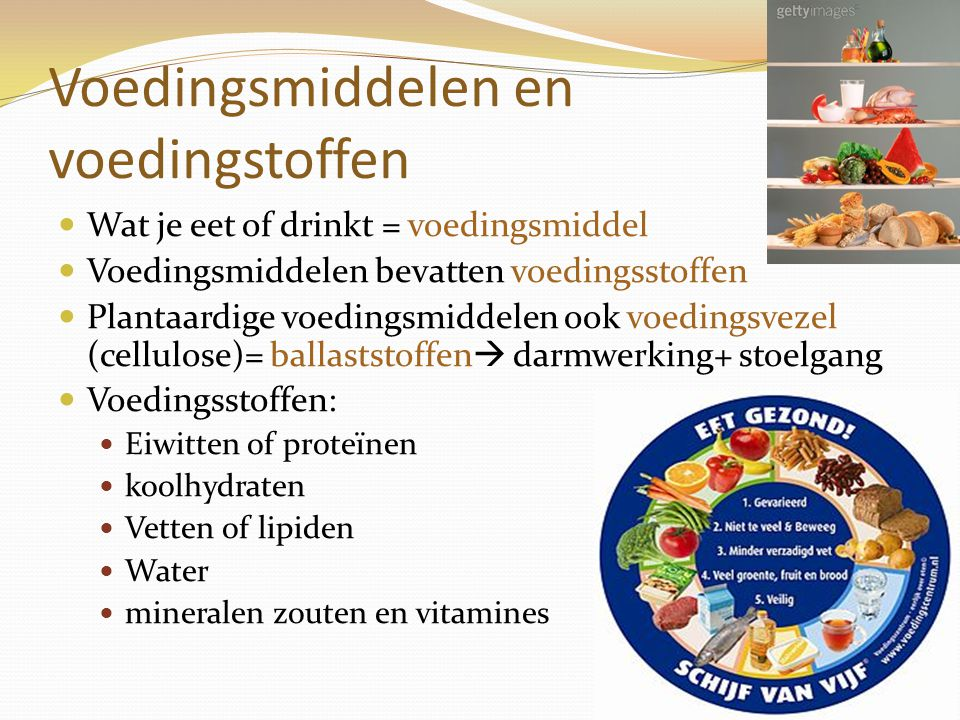 Voedingsmiddelen en voedingstoffen