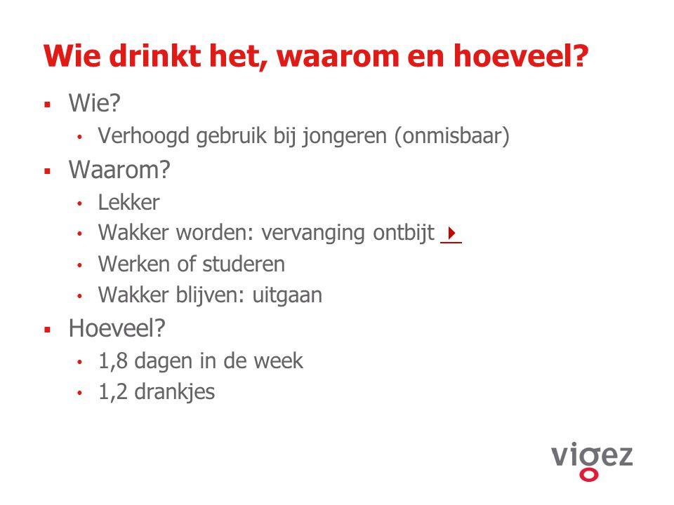 Wie drinkt het, waarom en hoeveel