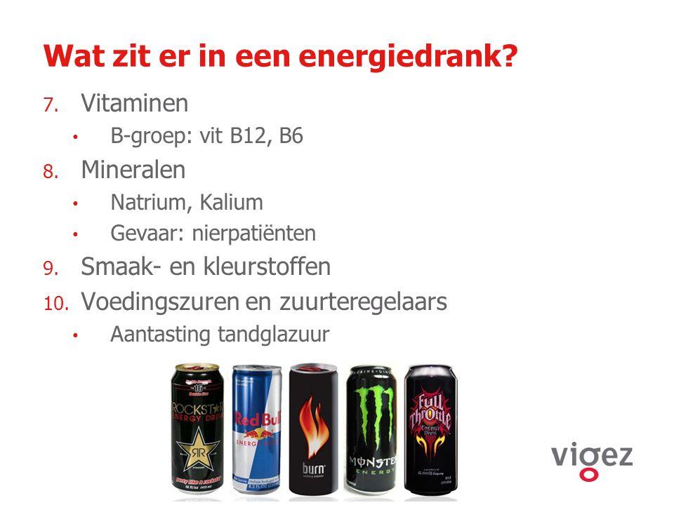 Wat zit er in een energiedrank