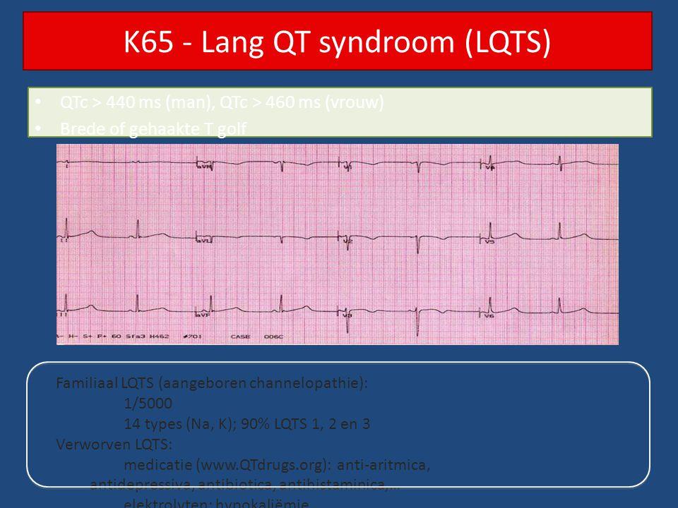 K65 - Lang QT syndroom (LQTS)