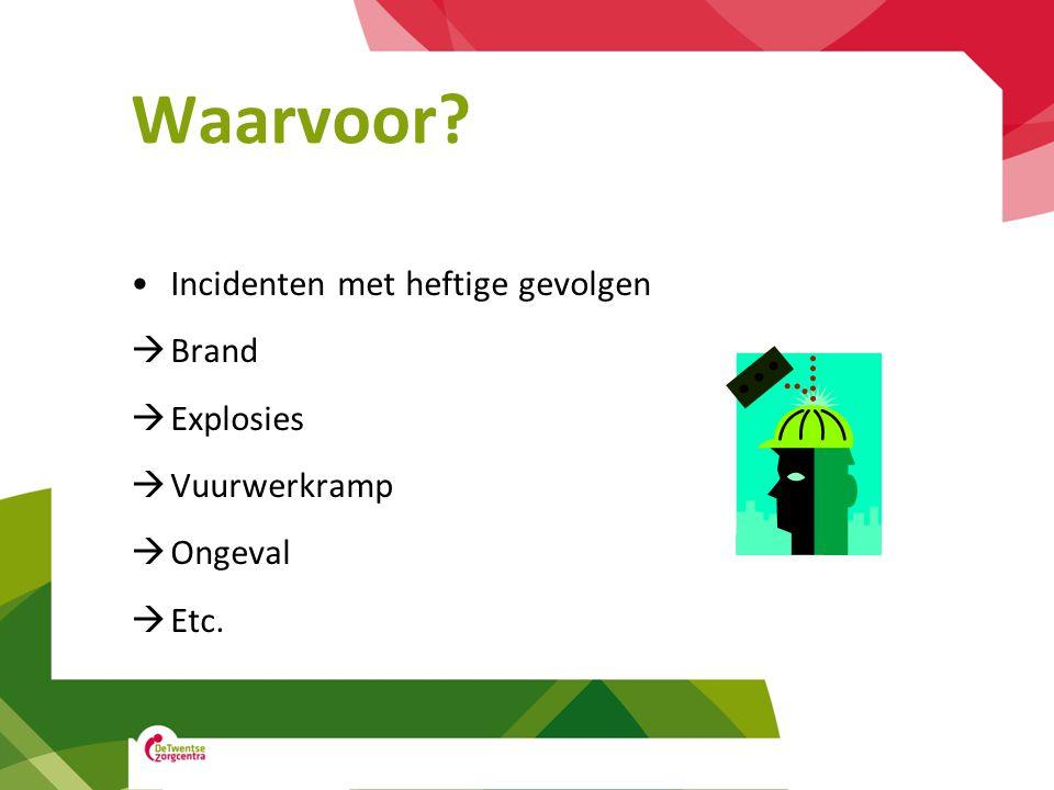 Waarvoor Incidenten met heftige gevolgen Brand Explosies Vuurwerkramp