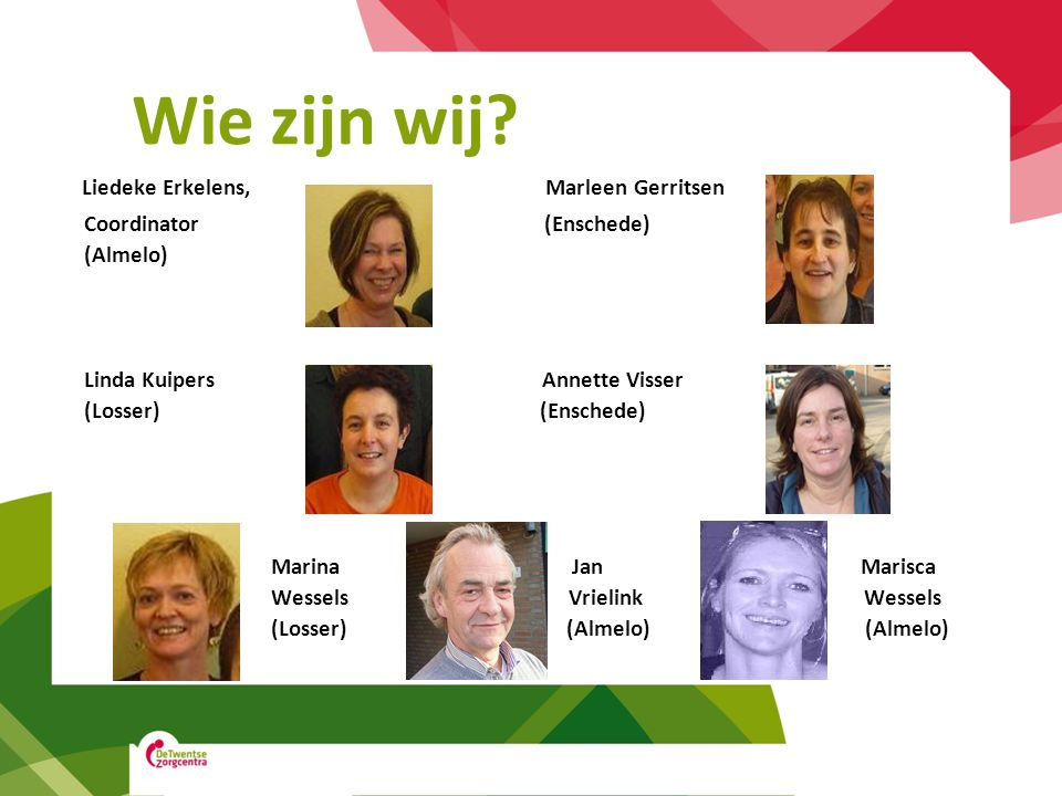 Wie zijn wij Liedeke Erkelens, Marleen Gerritsen