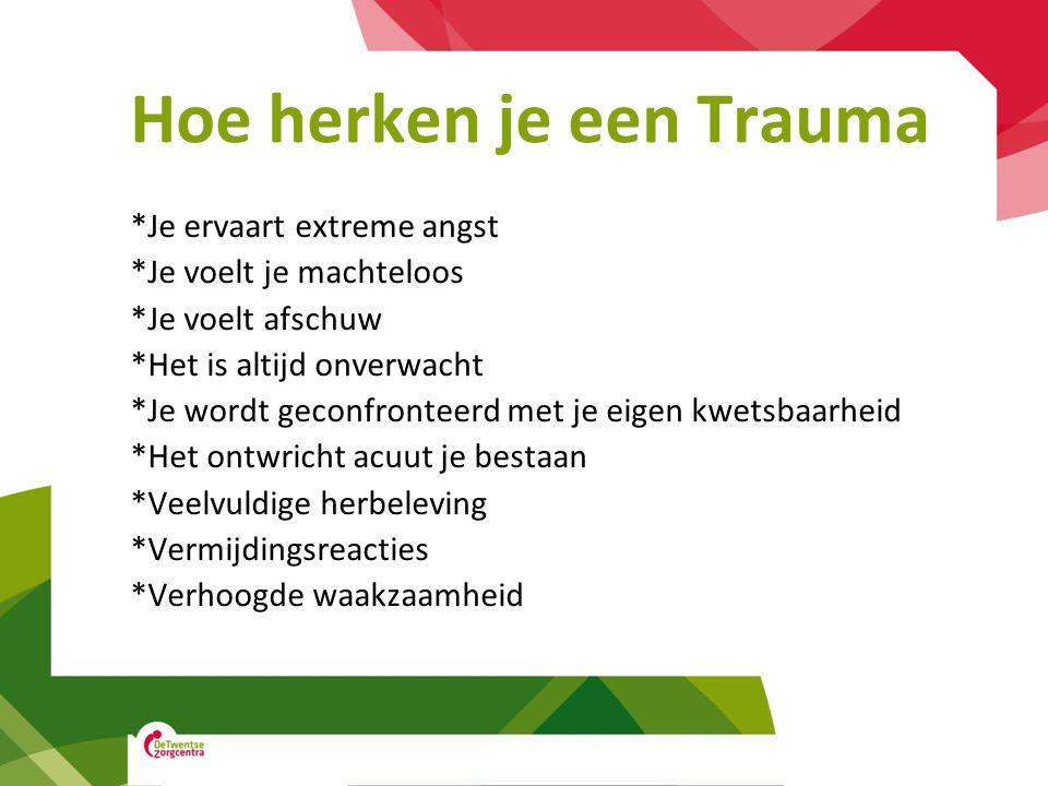 Hoe herken je een Trauma