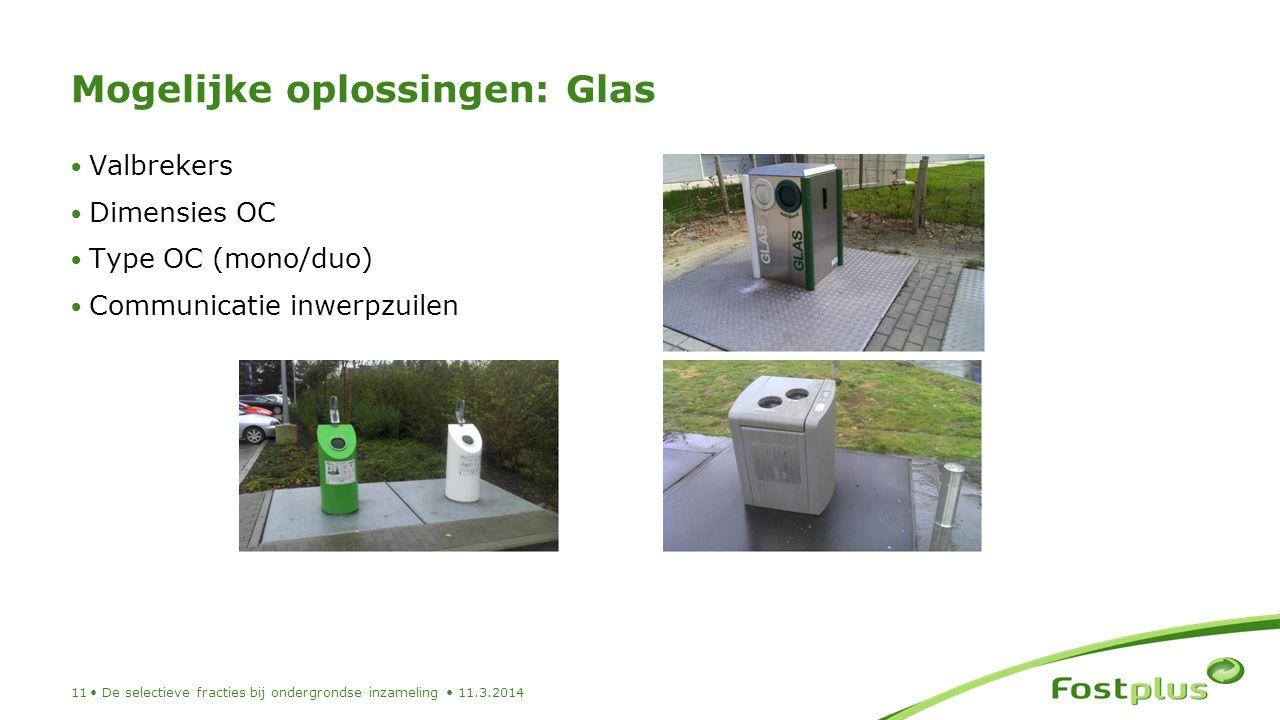 Mogelijke oplossingen: Glas