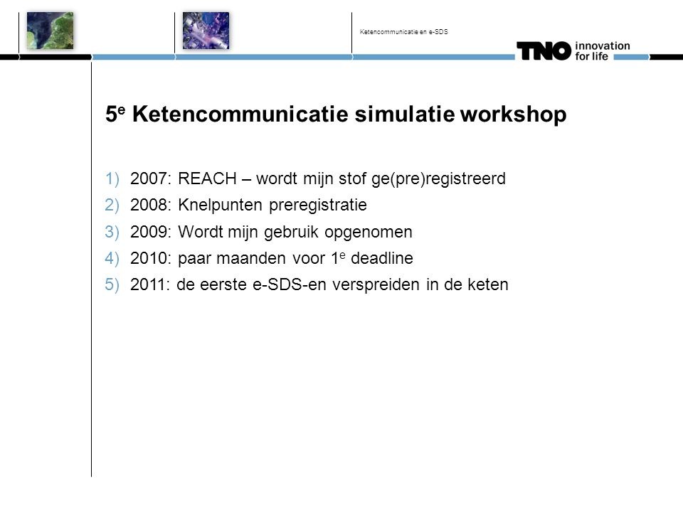 5e Ketencommunicatie simulatie workshop