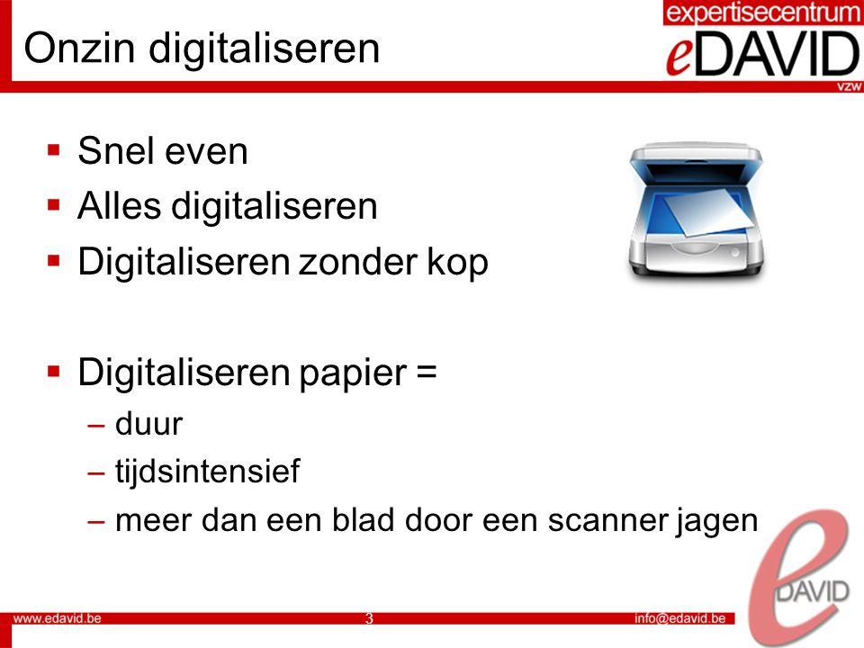Onzin digitaliseren Snel even Alles digitaliseren