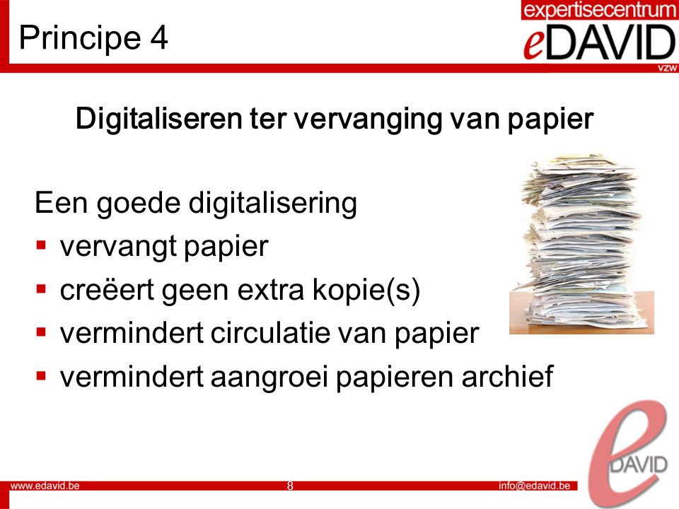 Digitaliseren ter vervanging van papier