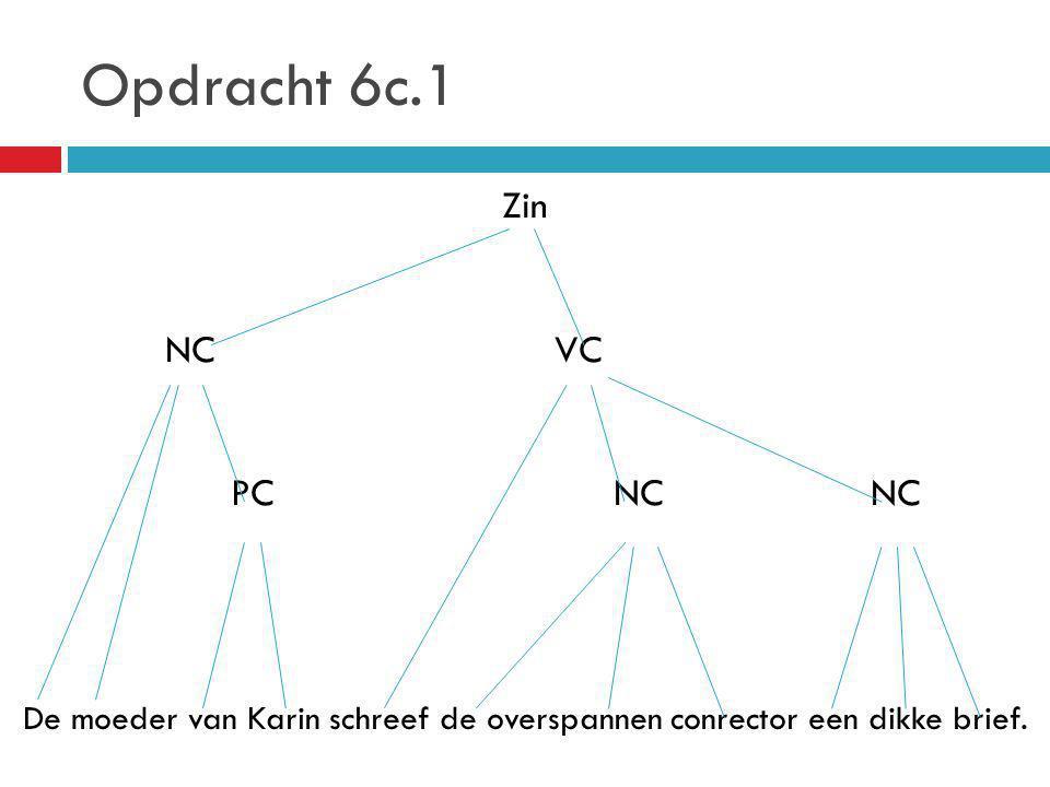 Opdracht 6c.1 Zin NC VC PC NC NC