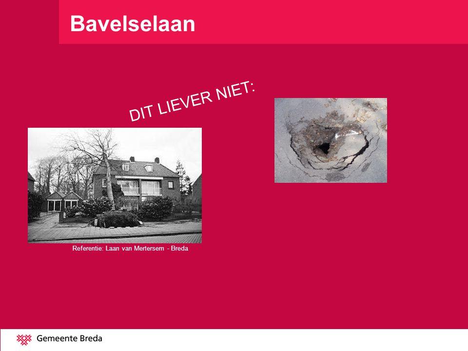 Bavelselaan DIT LIEVER NIET: Referentie: Laan van Mertersem - Breda