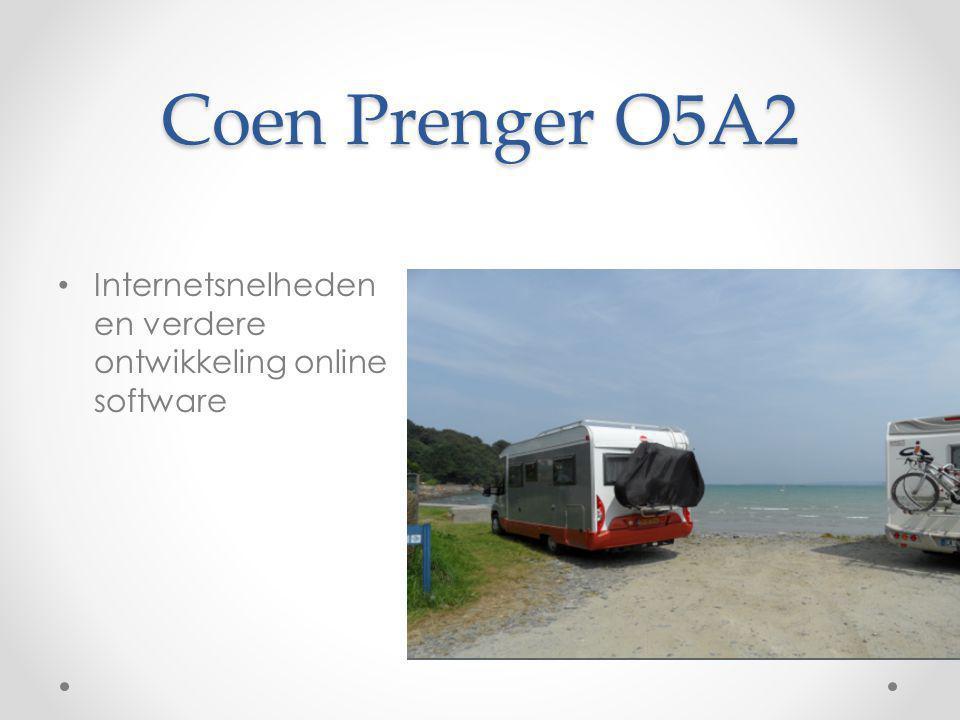 Coen Prenger O5A2 Internetsnelheden en verdere ontwikkeling online software