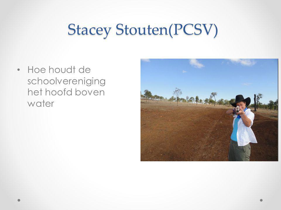 Stacey Stouten(PCSV) Hoe houdt de schoolvereniging het hoofd boven water