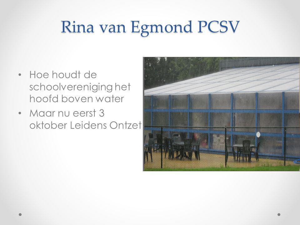 Rina van Egmond PCSV Hoe houdt de schoolvereniging het hoofd boven water.