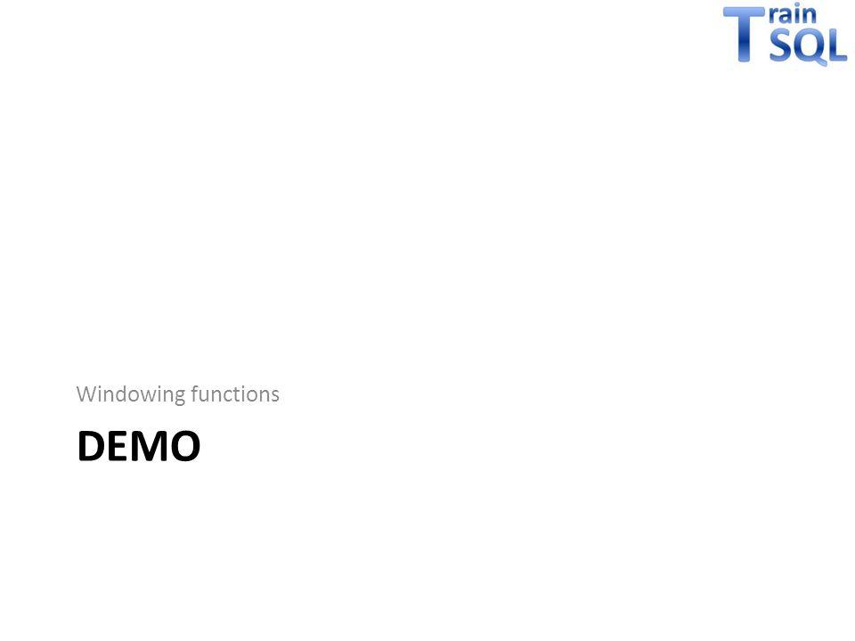 Windowing functions demo