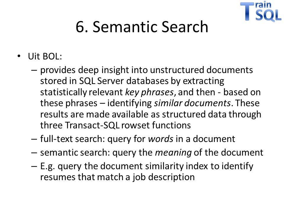 6. Semantic Search Uit BOL: