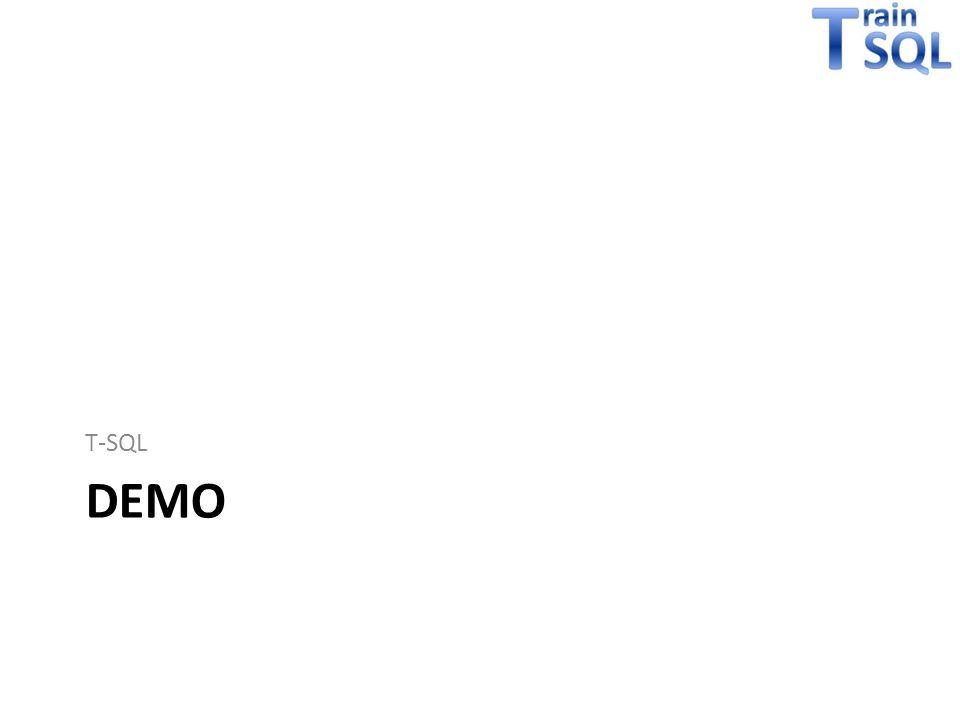 T-SQL demo