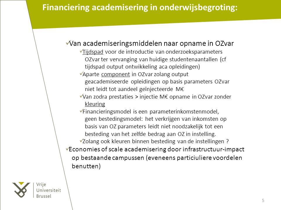 Financiering academisering in onderwijsbegroting: