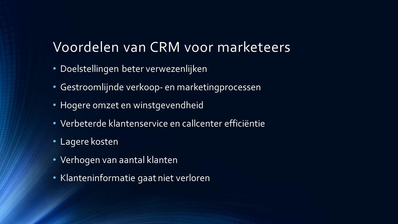 Voordelen van CRM voor marketeers
