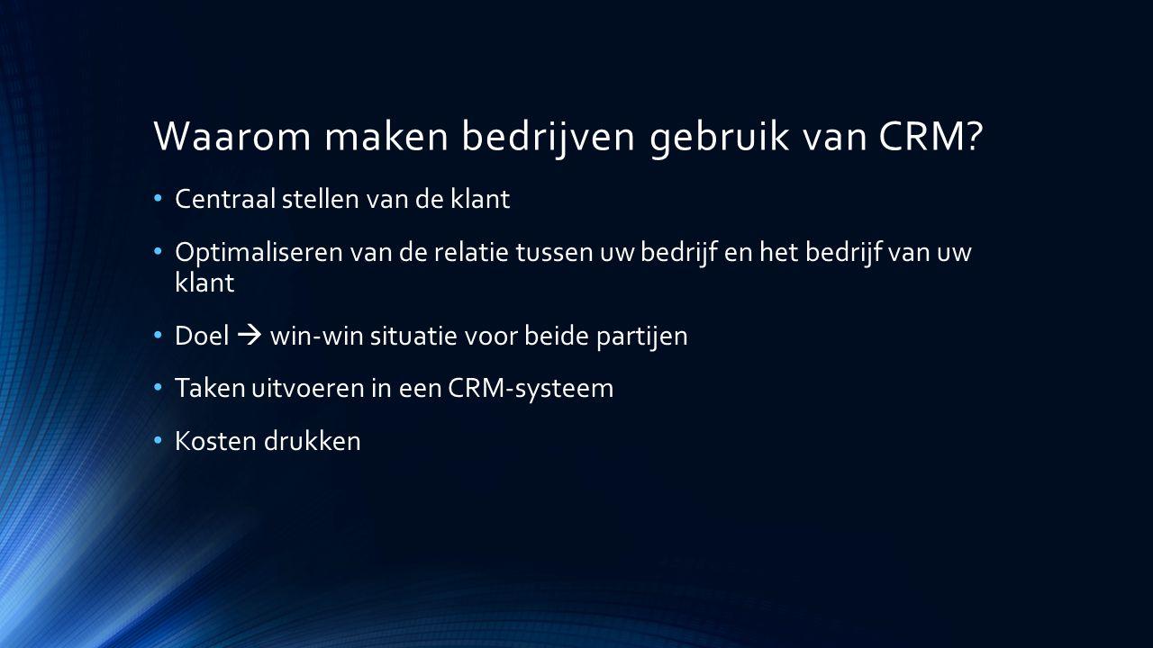Waarom maken bedrijven gebruik van CRM