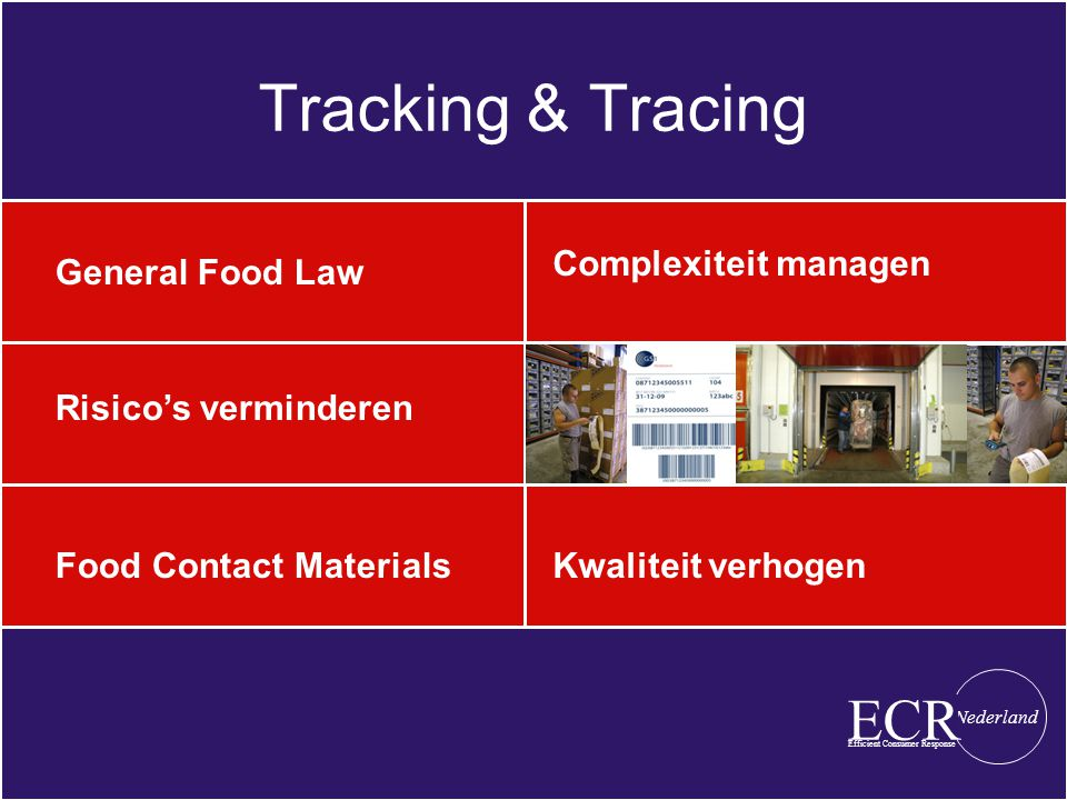 Tracking & Tracing ECR Complexiteit managen General Food Law