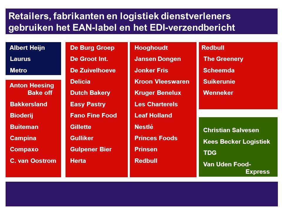 Retailers, fabrikanten en logistiek dienstverleners