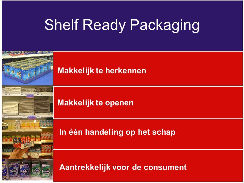 Shelf Ready Packaging Makkelijk te herkennen Makkelijk te openen