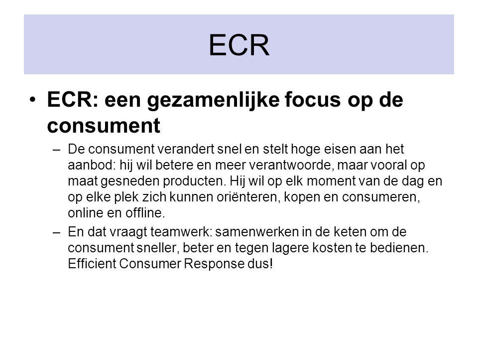 ECR ECR: een gezamenlijke focus op de consument