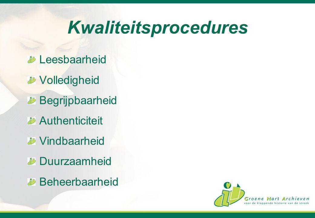 Kwaliteitsprocedures