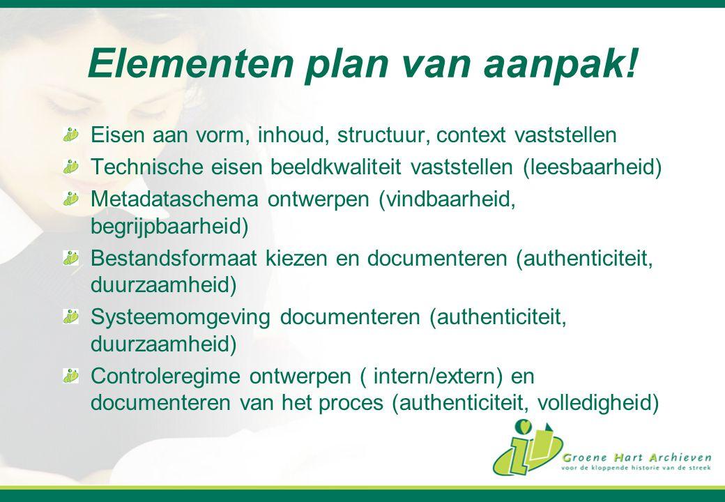 Elementen plan van aanpak!
