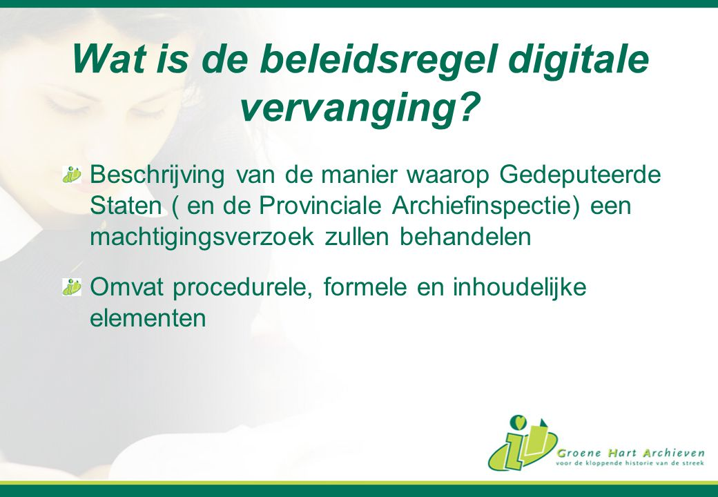 Wat is de beleidsregel digitale vervanging