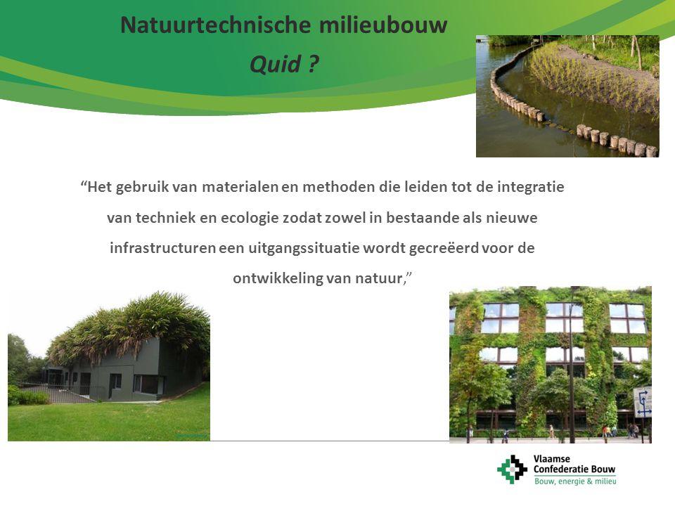 Natuurtechnische milieubouw Quid