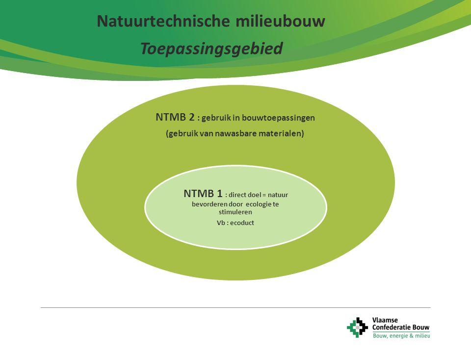 Natuurtechnische milieubouw Toepassingsgebied