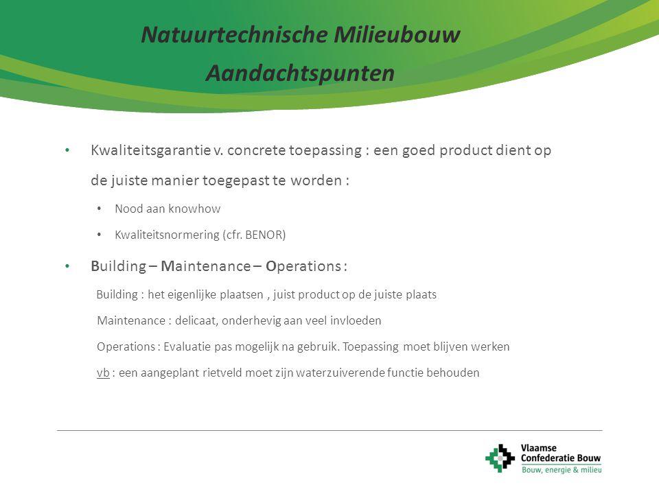 Natuurtechnische Milieubouw Aandachtspunten